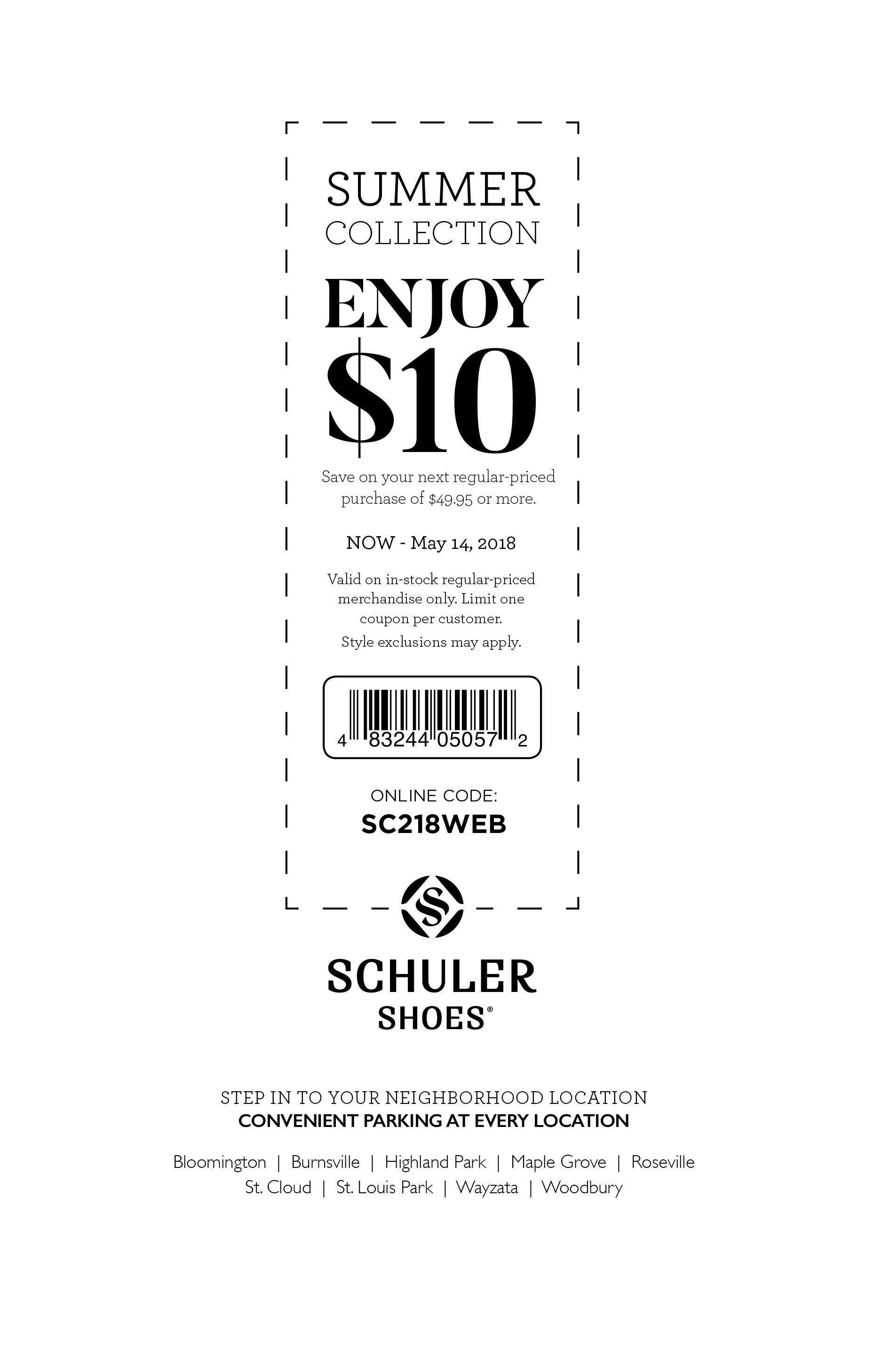 schuler shoes online coupon code
